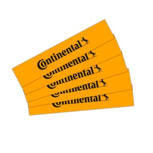 Continental Logo sticker, yellow, 10 x 2 cm