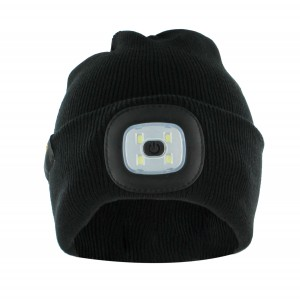 Continental winter beanie with LED light